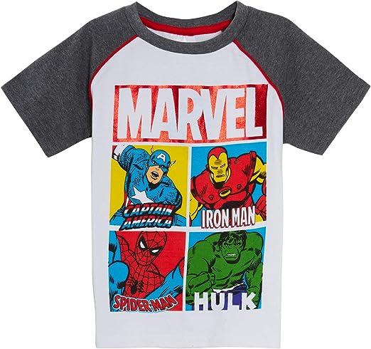 Marvel Boys Avengers Pantalones cortos de dos piezas + camiseta a juego gris Marl Summer Outfit: Amazon.es: Ropa y accesorios