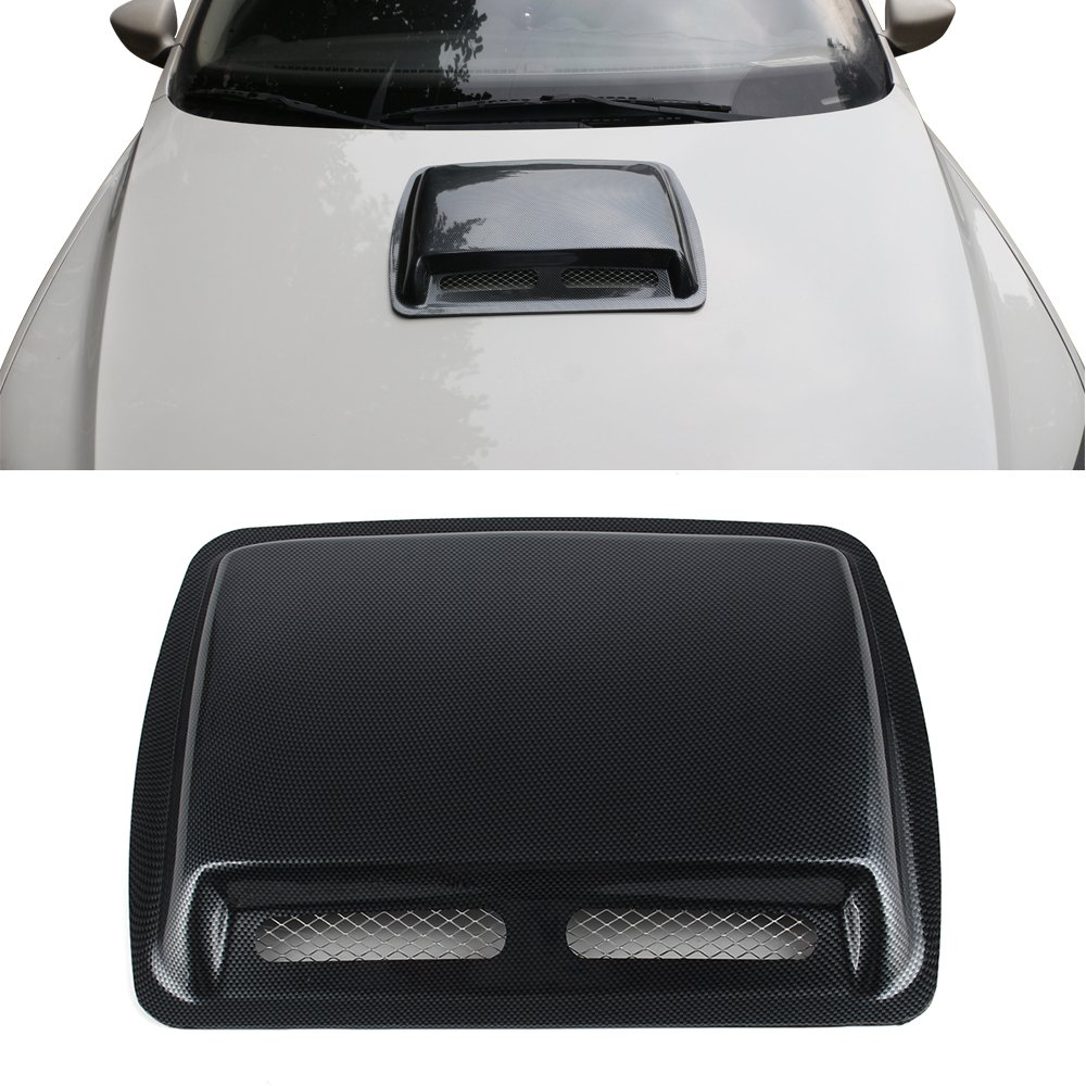 Universal Car Decorative Air Flow Intake Scoop Turbo Bonnet Vent Cover Hood Hot