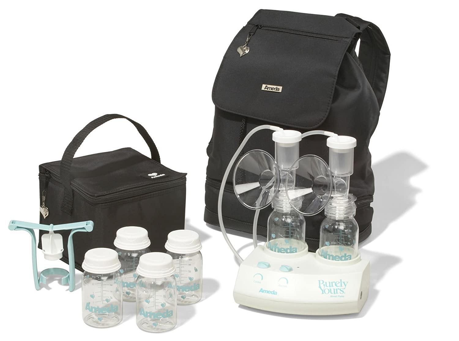 B0007IFUR8 Ameda Purely Yours Carry All Breast Pump Traveler Backpack 71ilRkpfnCL._SL1500_