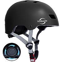 UniqueFit Casco para niños y Adultos Casco Protector Ajustable para patineta, Ciclismo, patín, Casco Certificado por…
