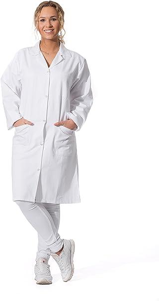 ZOLLNER Bata de Laboratorio Mujer, algodón 100%, Blanca, Tallas ...
