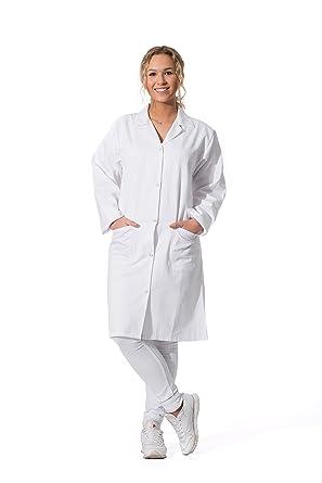 ZOLLNER Bata de Laboratorio Mujer, algodón 100%, Blanca, Tallas 34-50, 141: Amazon.es: Ropa y accesorios