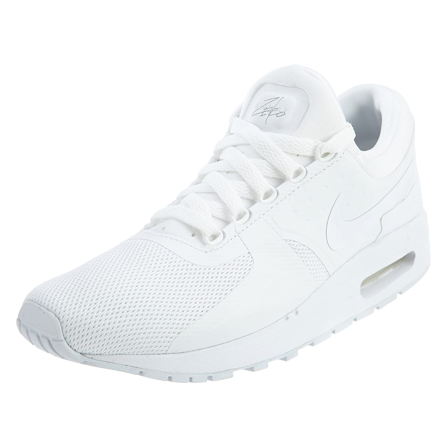 Nike  Air Max Zero Essential GS Running Shoe B0713RCYK2 5.5 M US Big Kid|White Wolf Grey 100