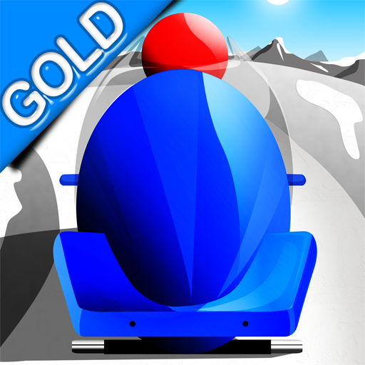 Bobsleigh Fast Winter Race : The Infinite Speed Sport Ice Track - Gold (Comet Ice)