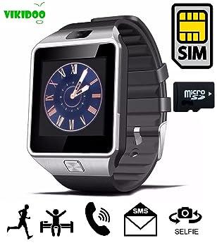 Vikidoo - SmartWatch DZ09 con tarjeta SIM, pantalla táctil y ...