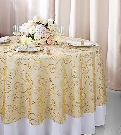 Round Table Overlays.Wedding Linens Inc 90 Round Embroidered Organza Sheer Table Overlays Toppers Organza