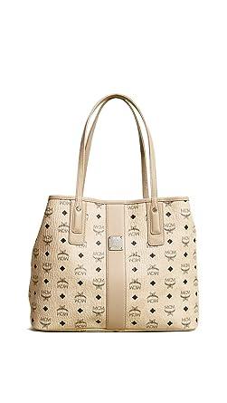 74f8d647b19ac MCM Damen Reversible Shopper Liz Medium Beige  Amazon.de  Bekleidung
