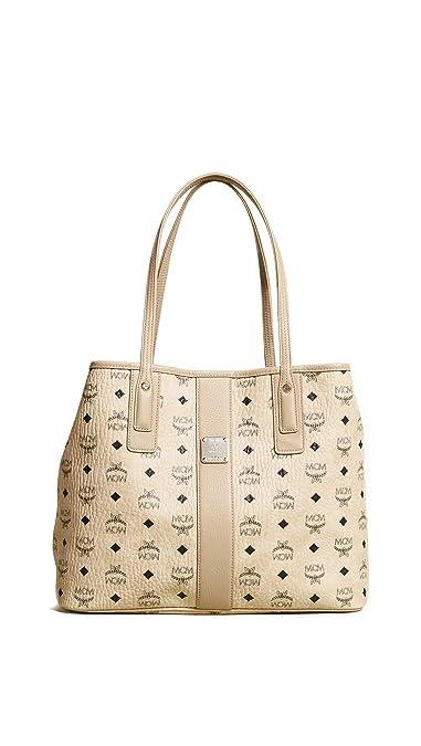 a9b26a7c4239 Amazon.com: MCM Women's Medium Liz Shopper Tote, Beige, One Size: Shoes
