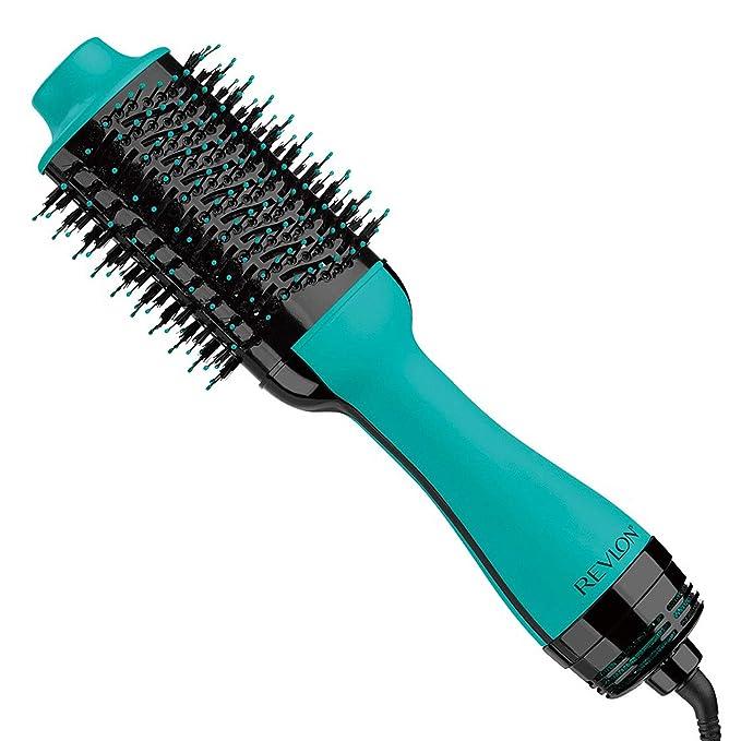 Amazon.com: REVLON One Step Hair Dryer And Volumizer Hot Air Brush, Turquoise: Beauty