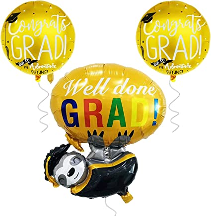 Graduation Party Supplies 2020 Graduation Emoji Balloons for Graduation Decorations Emoji Graduation Ballon with Cap Large Way to Grad Graduation Balloon Helium Graduation Mylar Balloons