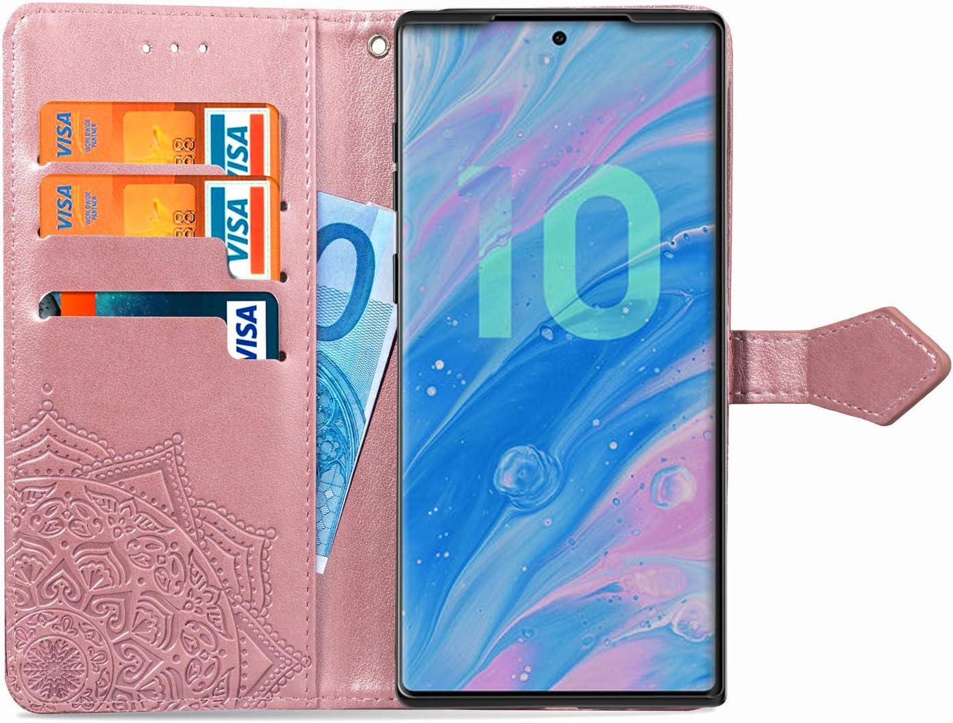 Note 10 Plus Lomogo Galaxy Note 10+ Schutzh/ülle Brieftasche mit Kartenfach Klappbar Magnetisch Sto/ßfest Handyh/ülle Case f/ür Samsung Galaxy Note10+ 5G H/ülle Leder LOSDA020427 Rosa Gold