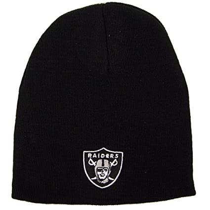 Image Unavailable. Image not available for. Color  Reebok Oakland Raiders  Uncuffed Embroidered Logo Winter Knit Beanie Hat ... c0f99607f