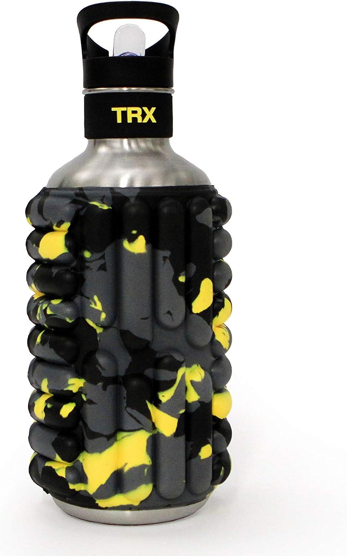 TRX Mobot Botella de agua con rodillo de espuma, para entrenar, mover, hidratar, enrollar, 40 onzas