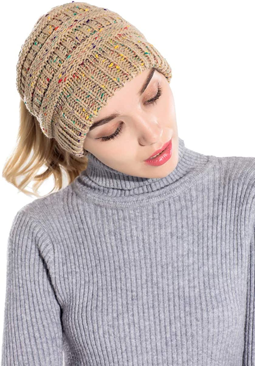 Elezay Cap Exclusives Winter Ribbed Brim Knit Hat Snow Ski Warm