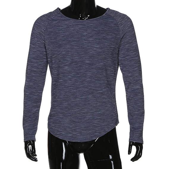 ALIKEEY La Moda De Los Hombres De Cuello De Manga Larga Slim Fit tee T - Shirt Casual Tops Blusas Musculo Calavera Camisas Camisa: Amazon.es: Ropa y ...