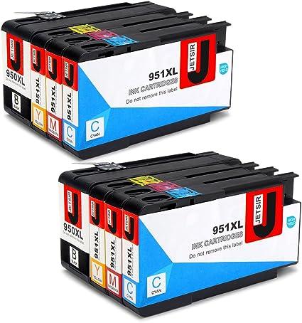 JETSIR Compatible Cartuchos de tinta Reemplazo para HP 950XL 951XL, Alta Capacidad Compatible con HP Officejet Pro 8600 8610 8620 8630 8640 8100 8625 8615 8660 251dw 276dw 271dw Impresora (2 Negro,2 Cian,2 Magenta,2 Amarillo): Amazon.es: Oficina y ...