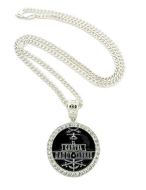 Nueva Iced Out Cartel Daddy Yankee colgante & 36