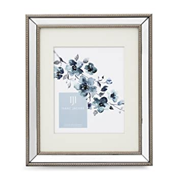 Amazon.com - Isaac Jacobs Mirror Bead Frame (11x14 (8x10 Mat), Silver) -