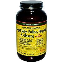 YS Royal Jelly, Pollen, Propolis & Ginseng in Honey (19.5 Fl. Oz Liquid)