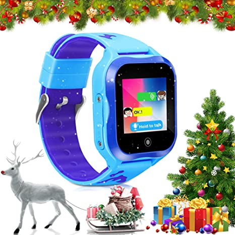 LJRYCQSSZSF Kids Watch Girls Boys reloj inteligente para niños Phone GPS Waterproof with SIM Card Digital Watch Voice Chat Camera Smartwatch ...