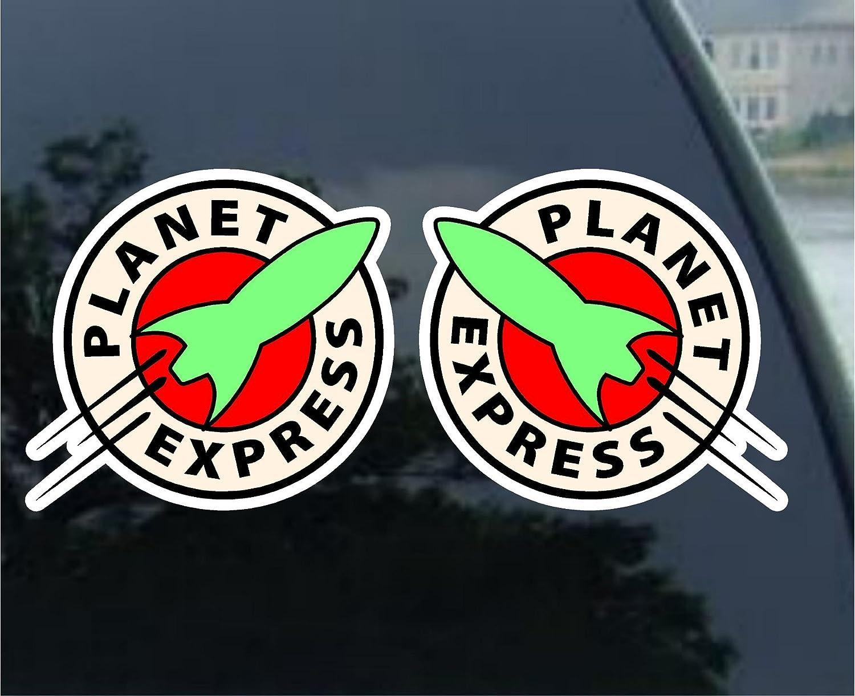 Adhesivo decorativo para coche 6,3 cm Futurama Planet Express Vynil
