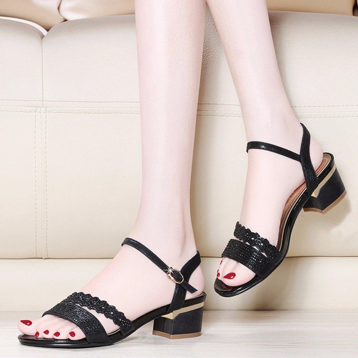 JRFBA-Schuhe JRFBA-Schuhe JRFBA-Schuhe Sommer - Koreanische Edition mit Dick und Bequem Sexy Hochhackigen Sandalen Damenschuhe  0d3ca3