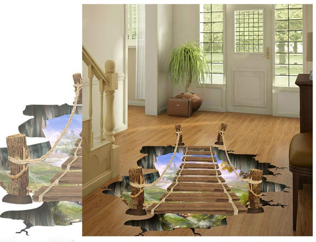 3d Fußboden Aufkleber ~ Saingace wandaufkleber wandtattoo wandsticker d brücken fußboden