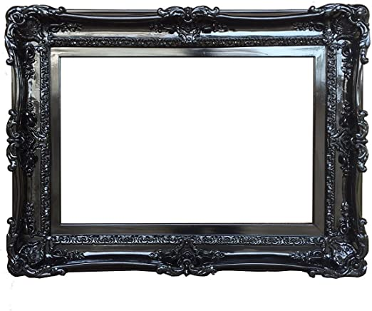 Amazon Com Fancydecor 20x24 Baroque Black Frame Ornate Wall For Mirror Shabby Chic Frames Large Picture Frame Home Kitchen