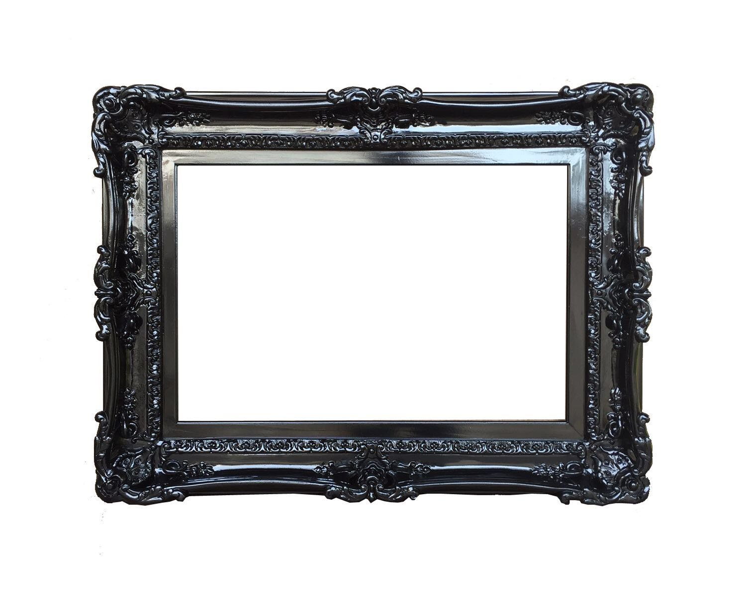 Amazon.com: 20x24 Baroque Black Frame - Ornate Wall Mirror - Shabby ...