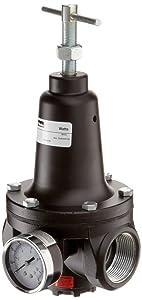 """Parker R119-08CG Regulator, 0-125 psi Pressure Range, Gauge, 400 scfm, 1"""" NPT"""