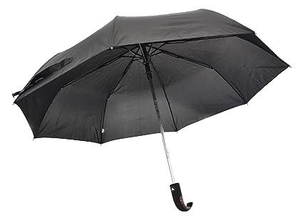 junta negro plegable paraguas automático abierto Calidad Superior ergionomic Mango de madera