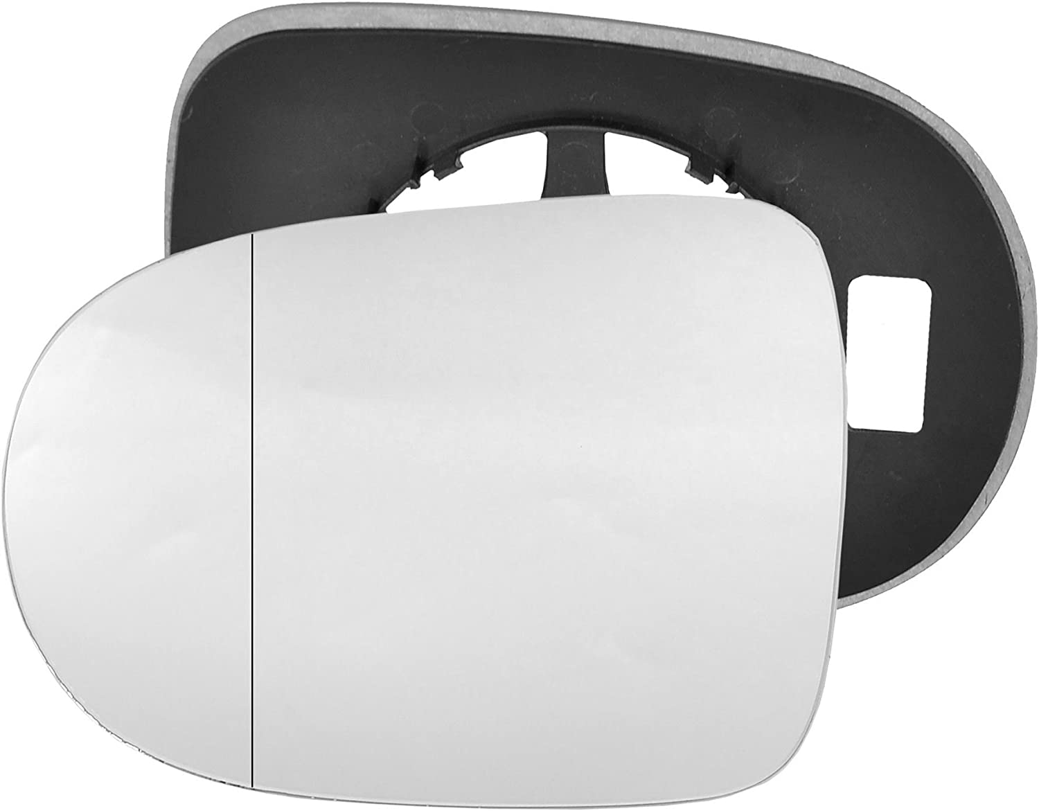 Clip On Passenger left hand side wing door Silver mirror glass with backing plate #W-SN//L-RTTO10