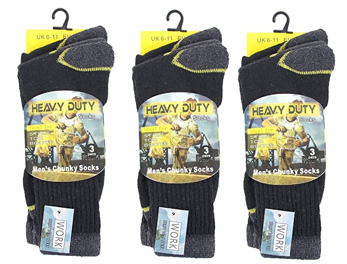 COMFYLOT LIMITED - Calcetines de deporte - para hombre Negro Black Color Socks With Yellow Line