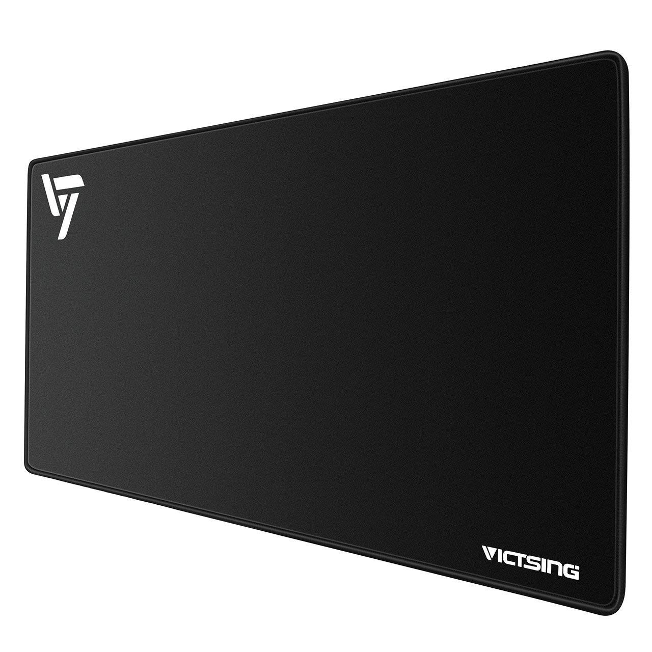VicTsing Extended Gaming Mouse Pad, Thick Large (31.5×15.75×0.08 inch) Computer Keyboard Mousepad Mouse Mat, Water-Resistant, Non-Slip Base, Durable Stitched Edges, Ideal for Both Gaming