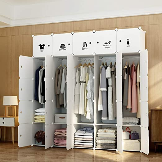 MAGINELS Portable Clothes Closet Wardrobe Armoire Dresser Storage Organizer