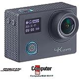 Somikon 4K-Action-Cam für UHD-Videos mit 2 Displays & 16-MP-Sony-Sensor, IP68