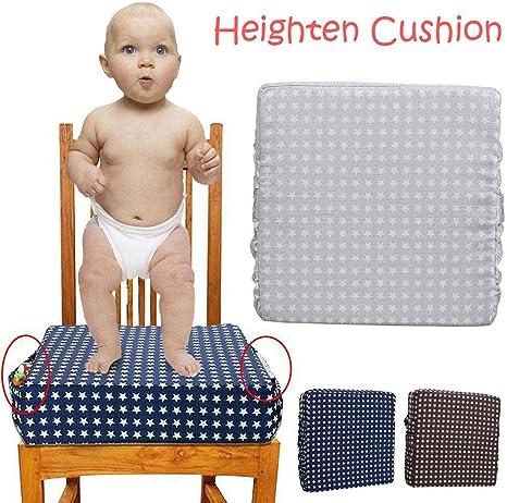 Coussin rehausseur robuste démontable Harnais réglable pour bébé Infant Coussin Rehausseur Chaise pour Chaise de Salle à Manger Enfant Bleu