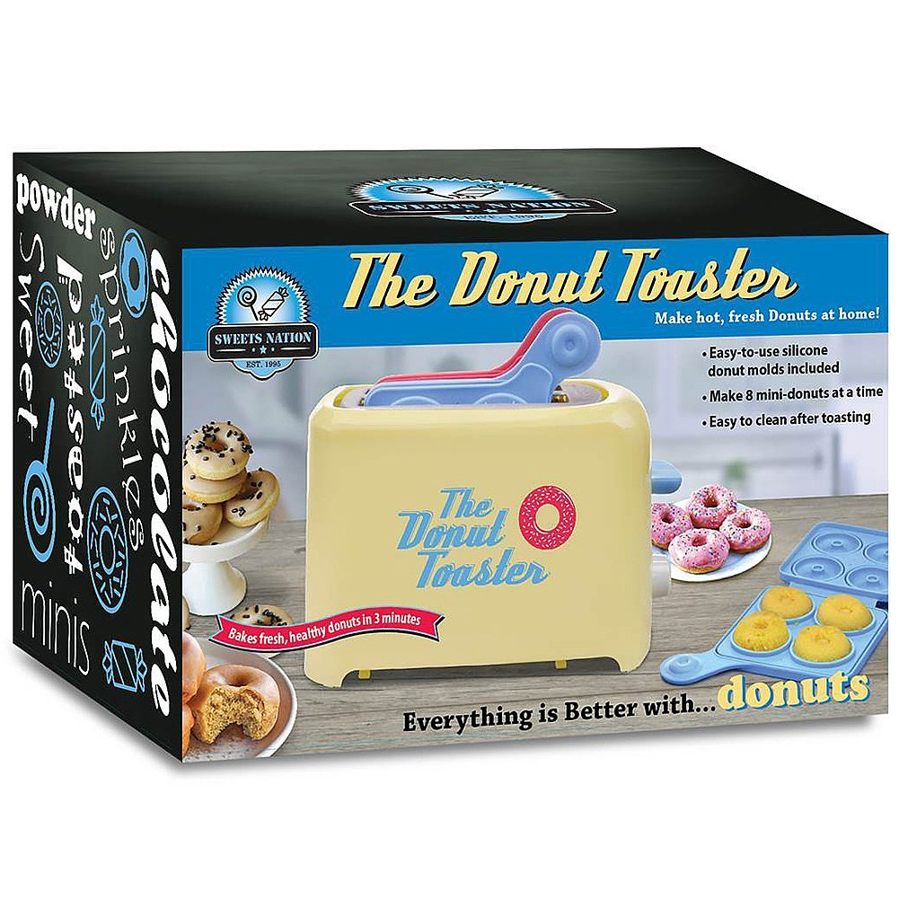Donut Toaster - Makes 8 Breakfast Treats Each Time w/Your Favorite Cake Mix by Smart Planet (Image #3)