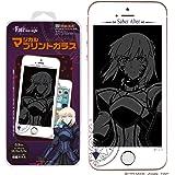 【劇場版「Fate/stay night [Heaven's Feel]」】 NEWLOGIC iPhone C-Glass 0.3mm マジカルプリントガラス 強化ガラス 液晶保護フィルム 液晶保護 ガラスフィルム (iPhoneSE/5/5s/5c, セイバーオルタ)