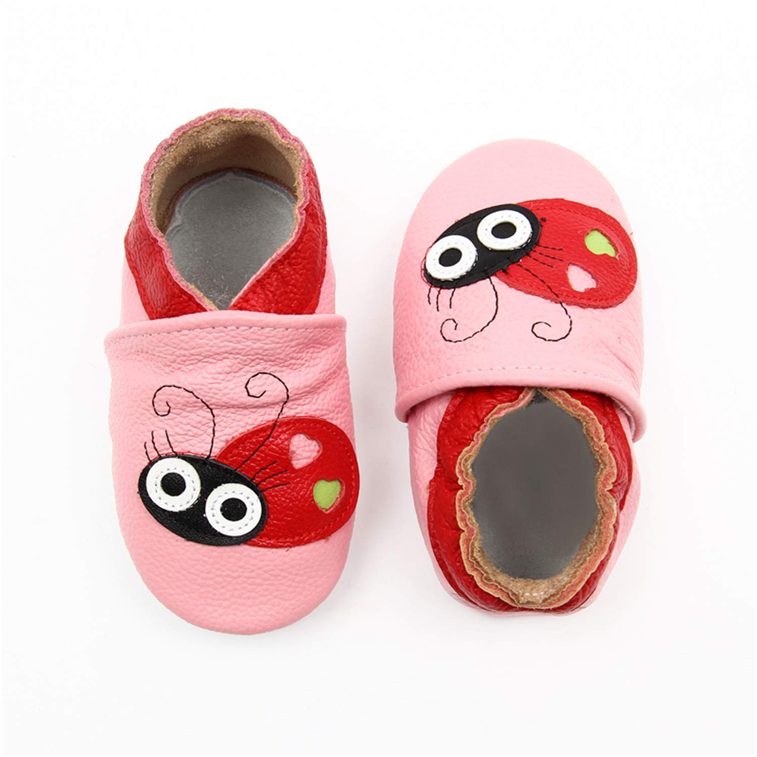 Fralina Cartoon Crab Skid-Proof First Walkers Soft Leather Baby Boys Girls Infant Slippers