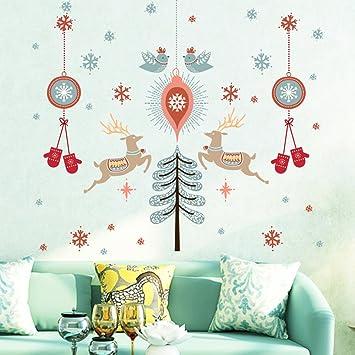Weihnachtsdeko Kinderzimmer.Weihnachtsdeko Weihnachtssticker Abnehmbare Wandsticker