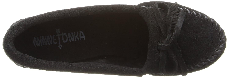 Minnetonka Kilty Schwarz Wedge Damen Mokassin Schwarz Kilty (schwarz) e71b45