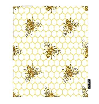 Amazon.com: Moslion Bee manta de franela cálida para ...
