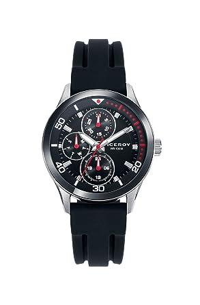 Viceroy Reloj Multiesfera para Hombre de Cuarzo con Correa en Silicona 46743-57: Amazon.es: Relojes