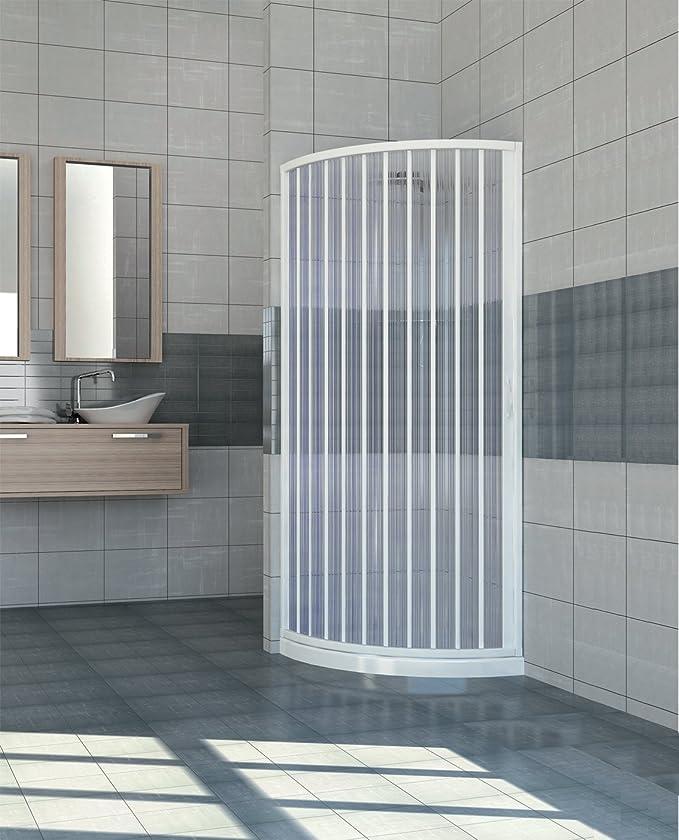 Extensible PVC puerta ducha cuadrante abertura lateral 70/80 ...