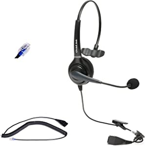 Provesional AT&T Syn248 Business Phones Headset Compatible with SB35025, SB35031 and Xblue IP7g, X3030, X4040 Phones | Noise Canceling Headset with RJ9 Quick Disconnect Cord | Comfortable and Durable