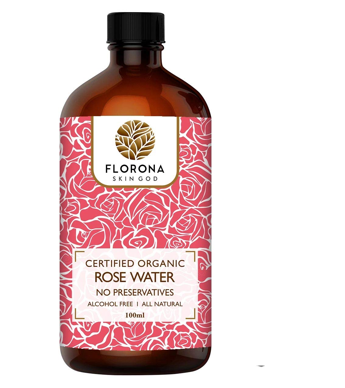 Florona Organic Rose Water Toner Spray 4 oz by Florona
