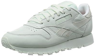 reputable site be2c6 c1e77 Reebok Classic Leather Spirit, Baskets Basses Femme, Blanc-Weiß (Mint),