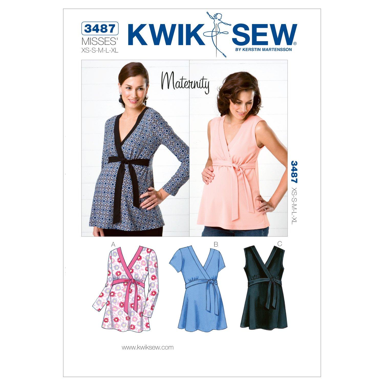Amazon kwik sew k3487 maternity tops sewing pattern size xs amazon kwik sew k3487 maternity tops sewing pattern size xs s m l xl arts crafts sewing jeuxipadfo Choice Image