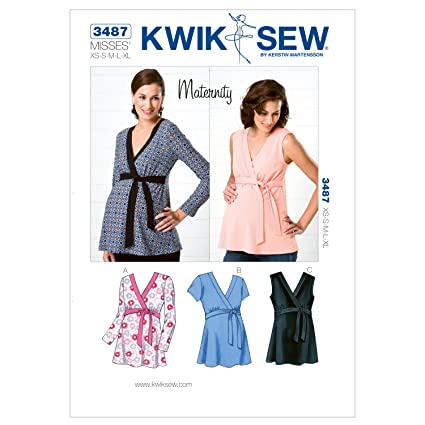 Amazon.com: Kwik Sew K3487 Maternity Tops Sewing Pattern, Size XS ...